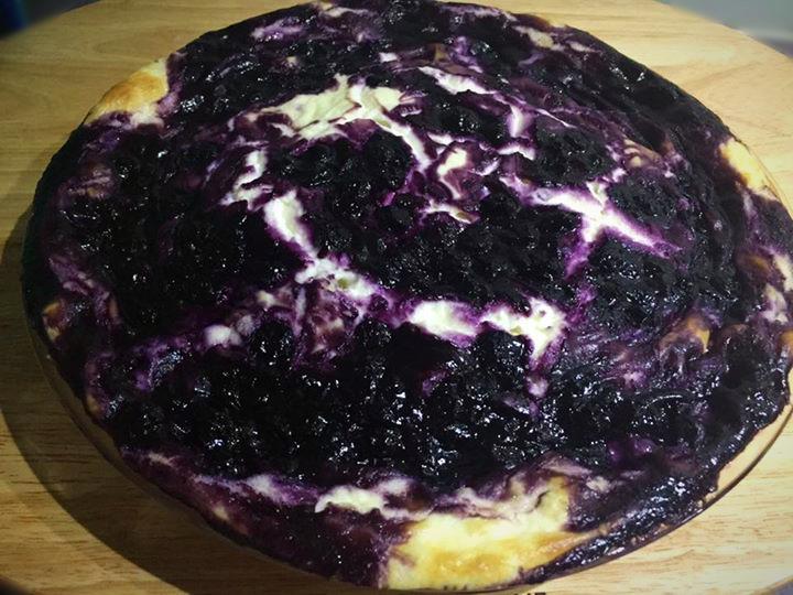 Blueberry Cheesecake with Pancake Base