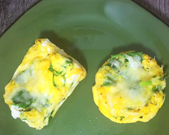 egg and spinach breakfast