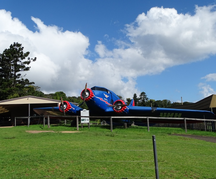 replica of Stinson Tri- motor Passenger plane that crashed on the border of New South wales and Queensland in 1937.
