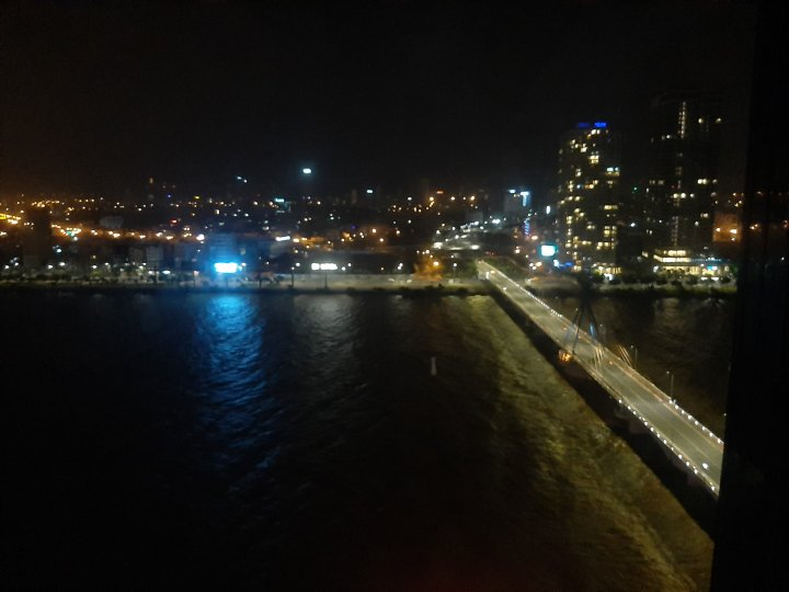 View of Han River the night before Typhoon Molave